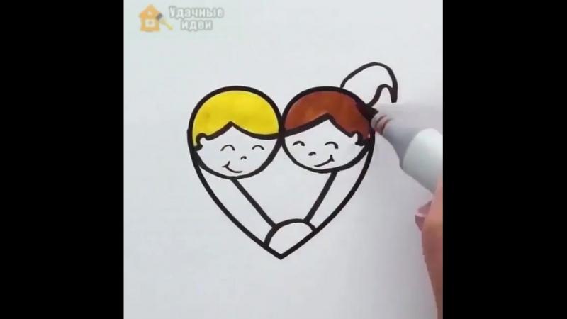 Отличные идеи простых и симпатичных рисунков