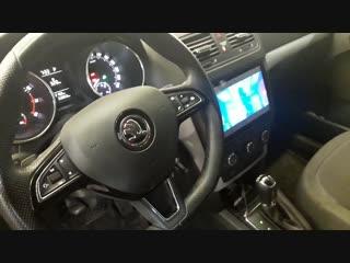 Установка магнитолы на Андроиде и камеры заднего вида на Шкода в Авто Ателье АврорА