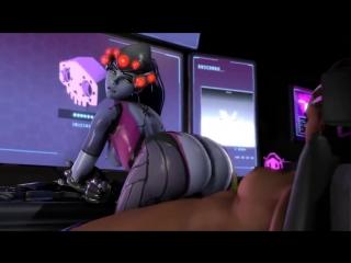 Sombra x widowmaker (blackjrxiii) - complete - big ass butts booty tits boobs bbw pawg curvy mature milf overwatch