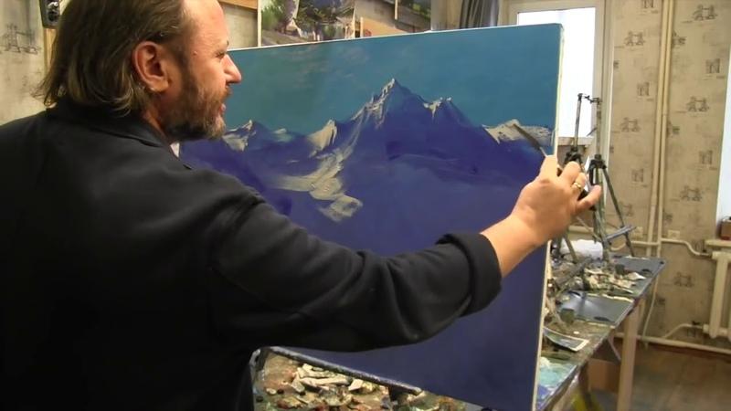 Игорь Сахаров научиться писать горы маслом горный пейзаж