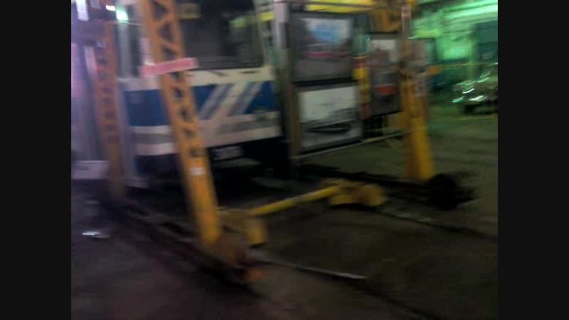 25 08 2018 длиннющий трехсекционный трамвай на базе ЛВС 86