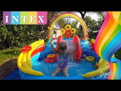 Intex Rainbow Ring Play Center Pool Toys Games Детский водный игровой центр ИНТЕКС Радуга