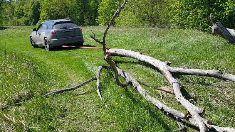 Везём дрова в лагерь