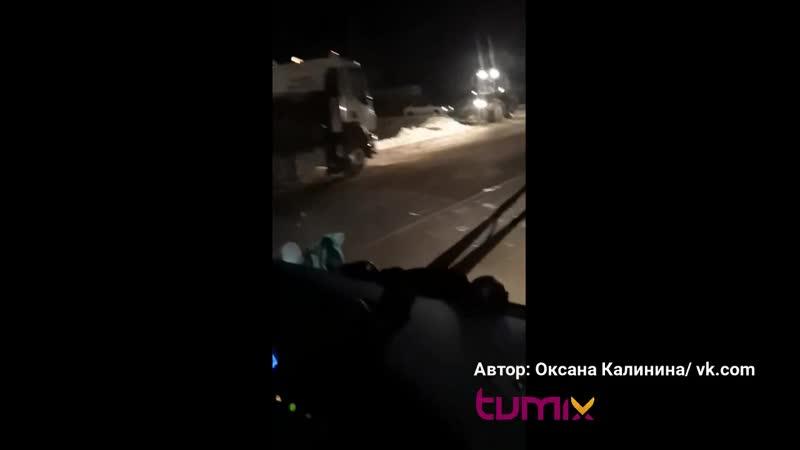 Авария с участием автобуса под Тюменью один человек погиб