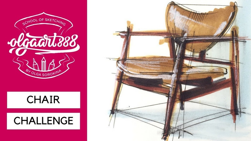 ✏️CHAIR CHALLENGE: how to draw Finn Juhl's Model 48 armchair. Episode 5