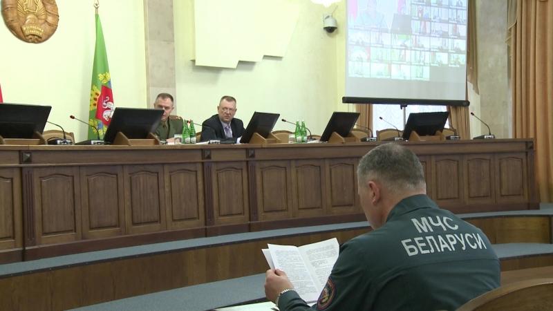 Очередное заседание комиссии по чрезвычайным ситуациям прошло в Витебском облисполкоме