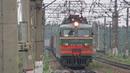 Электровоз ВЛ11 312 236А с грузовым поездом платформа Посёлок Киевский 16 07 2018