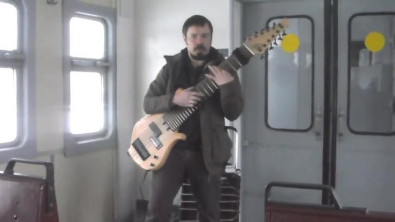 Самодельная 12-струнная гитара 01.02.2015 в электричке на Павловск