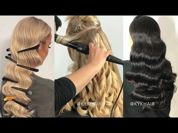 Peinados Con Ondas Tutorial / Hairstyles With Waves 2018 / Retro Curls Ideas 2018