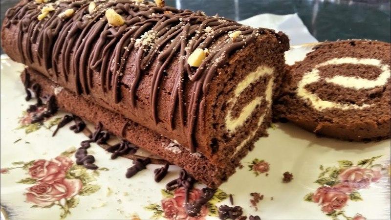 Обалденный шоколадный рулет самый простой рецепт Ани Кухня