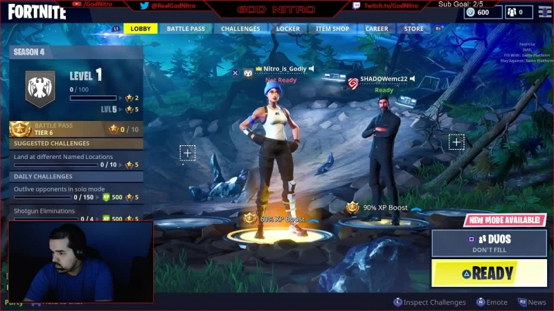200 Wins! Nitro Playing Fortnite on PS4! LIVE