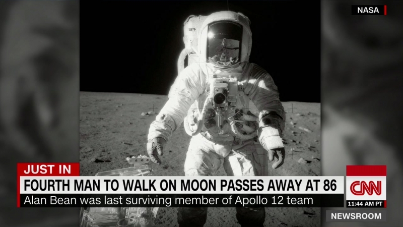 Alan Bean the 4th person to walk on the moon dies at 86