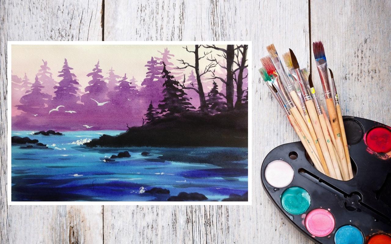 Голове, картинки простые красками