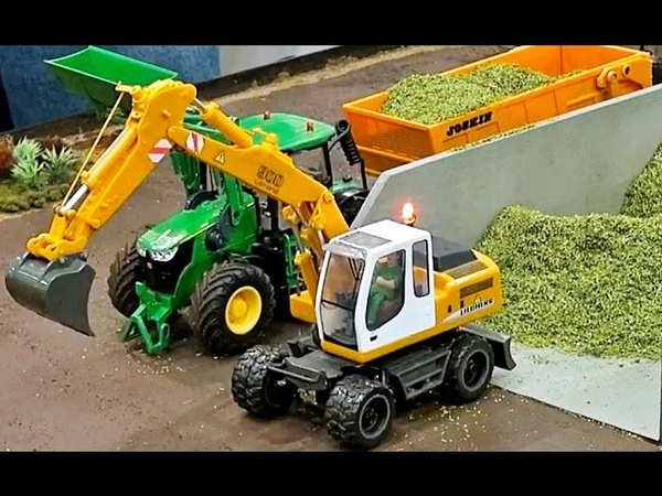 R/C excavator in incredible 1:32 scale, fendt tractor and more on the farm!