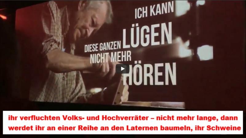 In einem Kino in Dresden aufgenommen, anwesende Gutmenschen bekamen schlagartig Schnappatmung. Es kommt die Zeit…