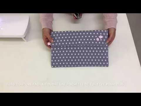Tuto couture facile coudre une pochette de toilette pour bébé Couture Madalena