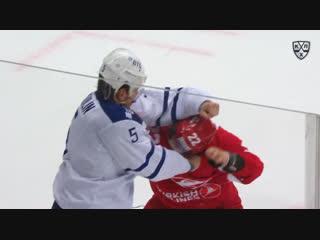 Драка КХЛ: Григорьев vs Никулин