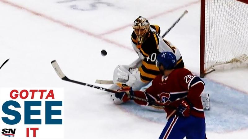 GOTTA SEE IT Jeff Petry Takes Backhand, Mid-Air Swing For OT Winner Against Bruins