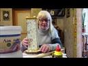 Декупаж. Высокая ваза для цветов своими руками из картонной коробки