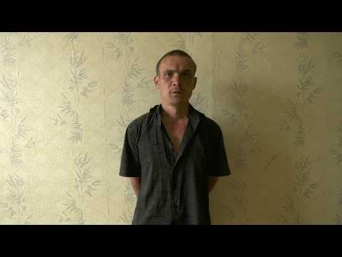 Опрос задержанного по подозрению в разбойном нападении в Рязани