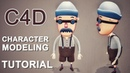 Toon | Simple Character Modeling | Cinema 4D Tutorial