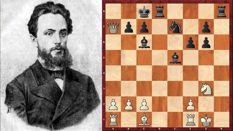 Шахматы БЛЕСТЯЩАЯ КОМБИНАЦИЯ Михаила Чигорина оставшаяся нереализованной