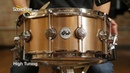 DW 6 5x14 Collectors Heavy Bell Bronze Snare Drum Knurled Finish Quick 'n' Dirty