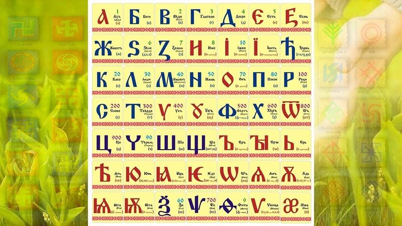 Буквица зашифрованный квадрат 49 Руны Рода АзБуКа 7частей 7 горизонталей 7 столбов 7 вертикалей 7на7