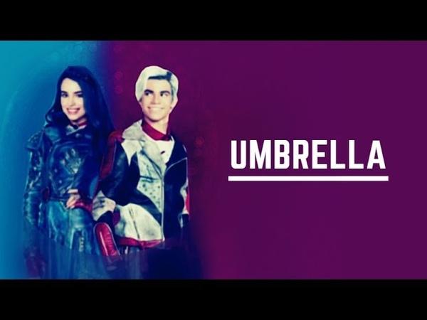 Evie and Carlos ✘ umbrella [AU]