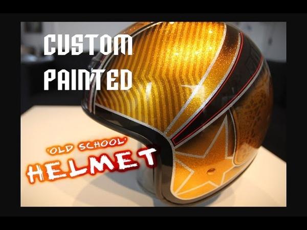 Custom painted old school helmet (Complete)