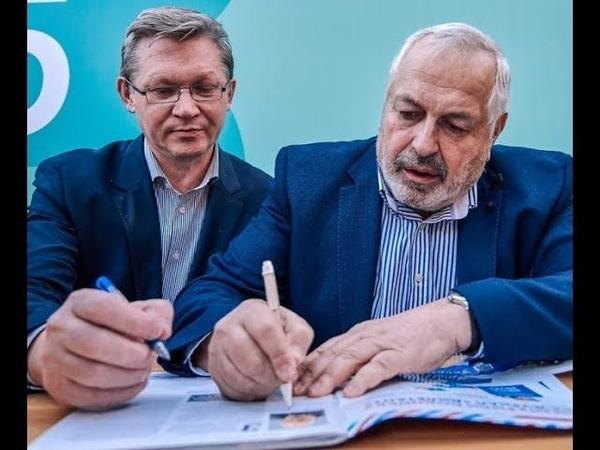 Студия ТранZит журналисты Виталий Дымарский и Владимир Рыжков