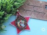 Елочная игрушка из деревянной заготовки /новогодний декор своими руками/DIY