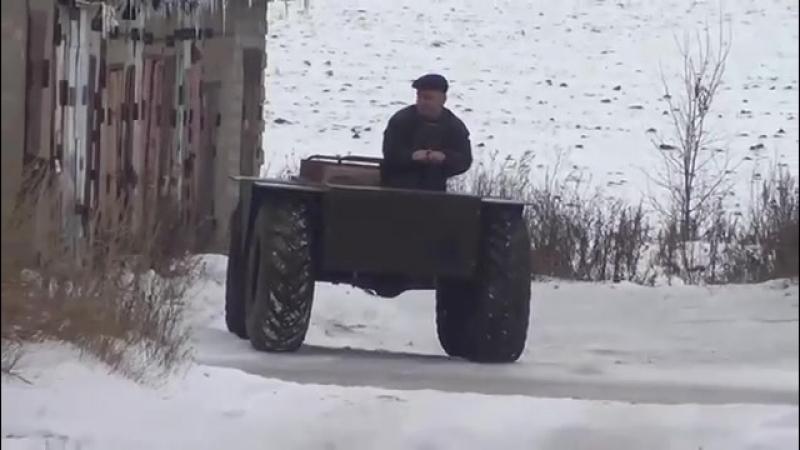 Самодельный вездеход 4x4 борто-поворотный - YouTube