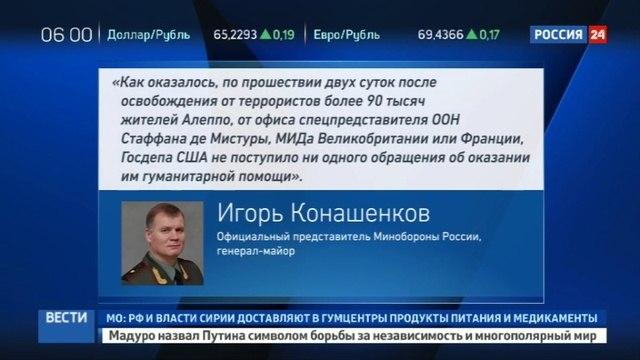 Новости на «Россия 24» • Минобороны РФ из восточной части Алеппо вышли еще более 5,5 тысячи человек