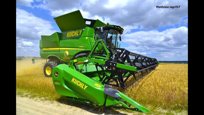 E.T.A DENIS KUCHLY | Moisson 2018 | Monster machine !! New John Deere combine harvester S780i