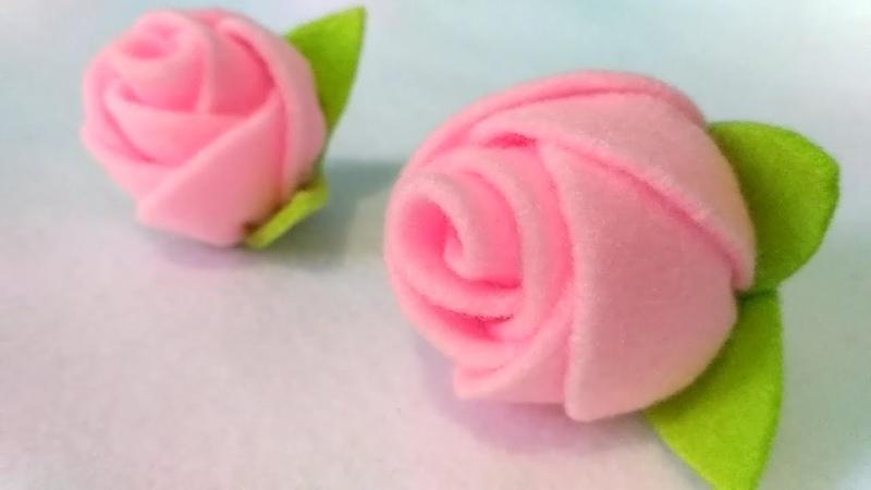 DIY Cara Mudah Membuat Bros Mawar Dari Kain Flanel How to make a felt rose brooch