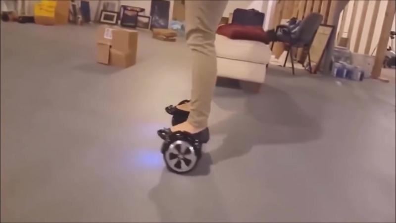 Падения с гироскутера. HD