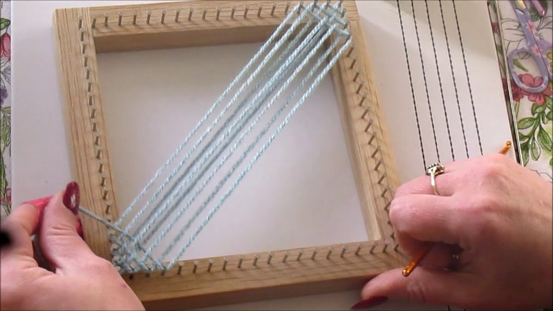 Beginners Tutorial Weaving your first square with a Pin Loom
