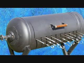 Отличная идея для мангала из газового баллона! jnkbxyfz bltz lkz vfyufkf bp ufpjdjuj ,fkkjyf!