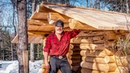 The Log Cabin Roof is ON! | Self Reliance and Back to Nature