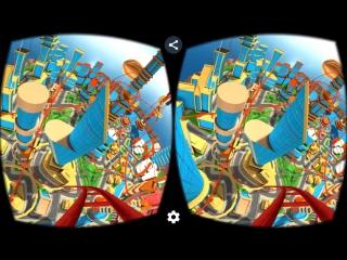 Virtual Reality. Crazy Roller Coaster 3D VR SBS