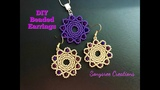 Beaded Chakra Earrings.DIY Beaded Earrings. How to make beaded earrings Super Easy Tutorial
