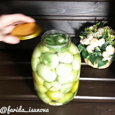 Блюда для перекуса • Консервированные зеленые помидоры
