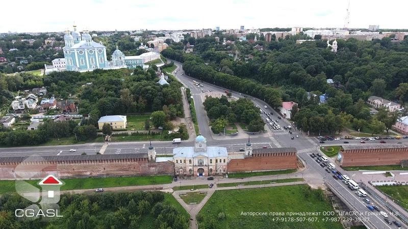 Аэросъемка города Смоленск Aerial view of the city of Smolensk DJI Phantom 4 4K