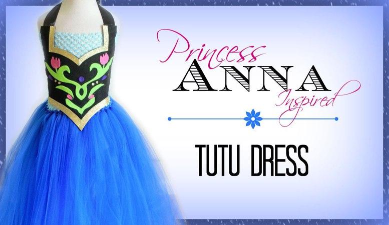 Anna Inspired Costume Tutu Dress - DIY