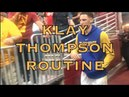 Klay Thompson pregame routine + Anderson Varejao cameo in Cleveland before 2018 NBA Finals G3