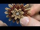 Öğretici Video-Çok Fonksiyonlu Çiçek Broş Kolye-Toka-Broş/Dairesel Herringbone Tekniği