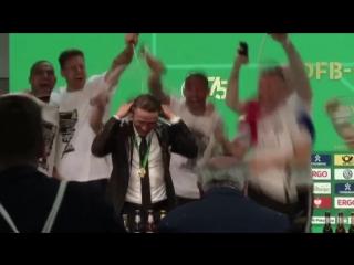 """Пресс-конференция """"Айнтрахта"""" после триумфа в Кубке Германии"""