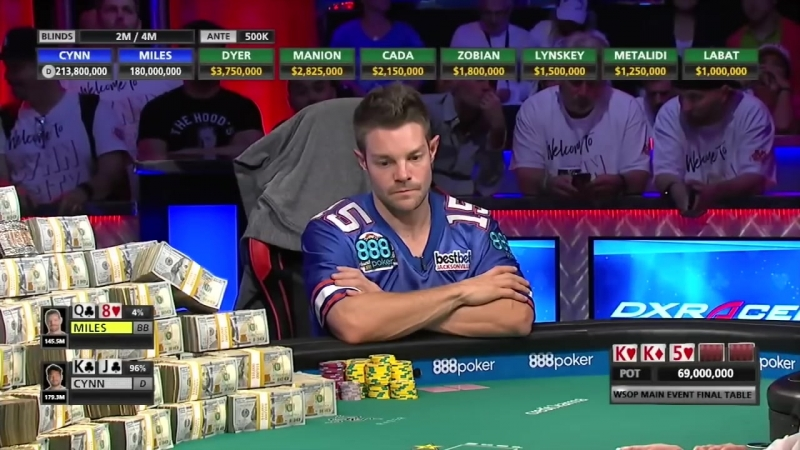 2018 World Series of Poker Cynn calls Miles' bluff in final hand to win $8 8M prize ESPN