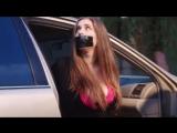 BoundHub - Big boob babe stuffed into a trunk